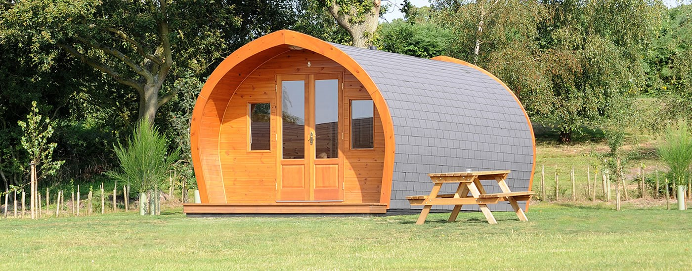 Luxury glamping pods near the Suffolk Heritage Coast